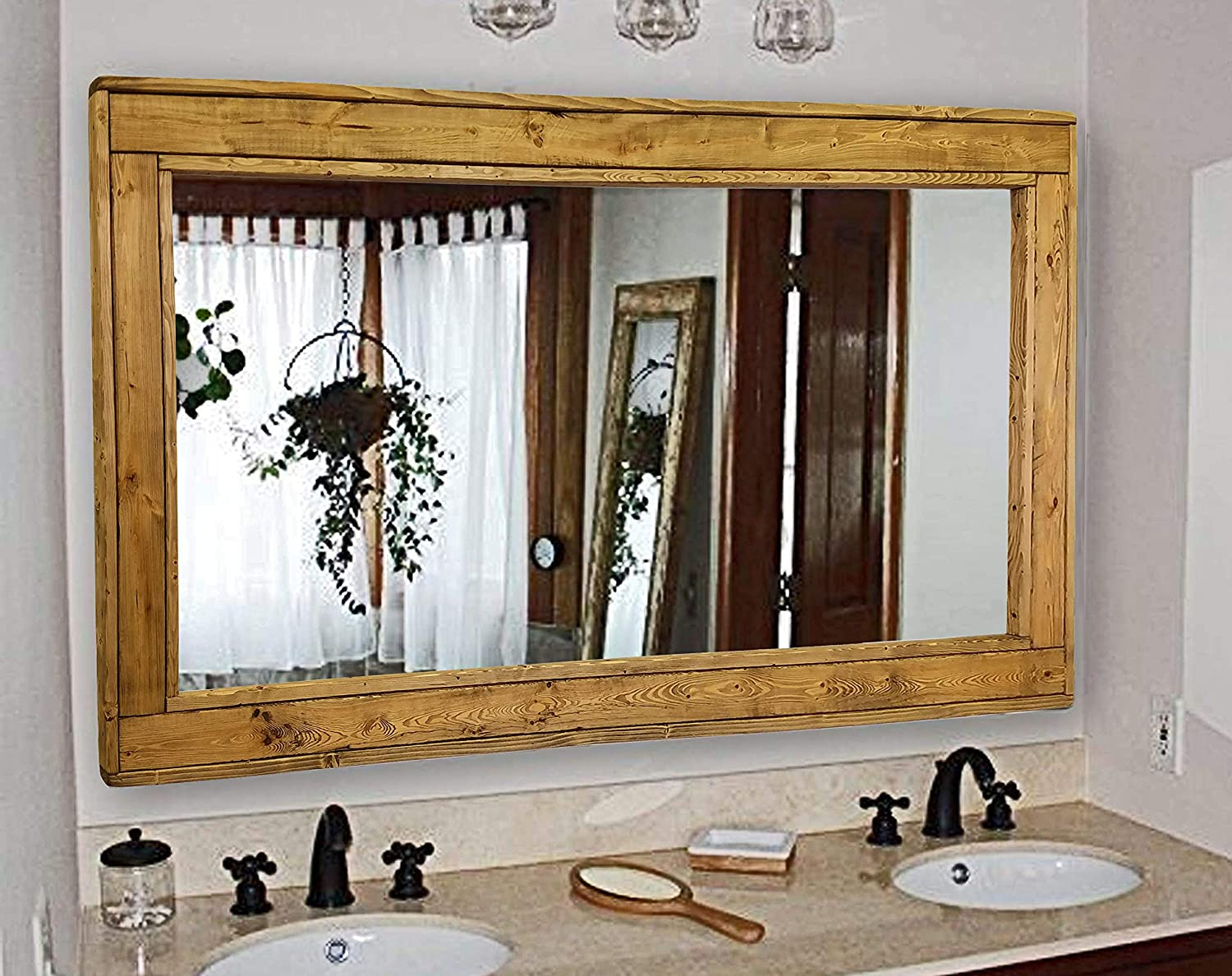 herringbone large mirror double vanity mirror available in 20 colors shown in driftwood reclaimed wooden framed mirror ex large wall mirror