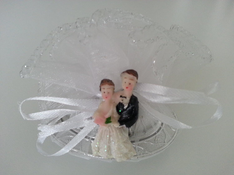 10X aus Metall mit 5 Mandeln Gastgeschenke Hochzeit Kina Mevl/üt Nikah Sekeri D/üg/ün Nisan S/öz