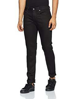 G-Star Raw Mens 3301 Slim Jean in Ita Black Superstretch