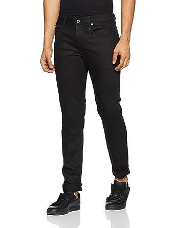 ad973abb401e7d G-STAR RAW Men's 3301 Slim - Black Raw Jeans: Amazon.co.uk: Clothing