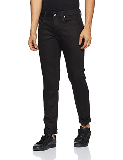 Amazon.com  G-Star Raw Men s 3301 Slim-Fit Pant in Black Edington Stretch  Denim Raw  Clothing 2c55ac420df3