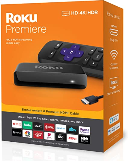 Amazon.com: Roku Premiere | HD/4K/HDR Streaming Media Player ...
