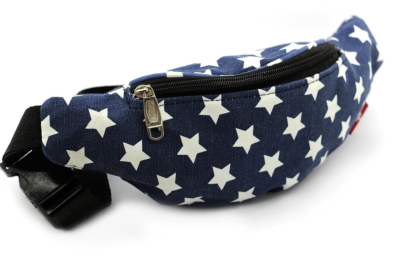 Riñonera de Moda Bolso Bandolera de Cintura Diseño Estrellas Retro Ideal para