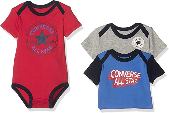 Converse Baby Boys 3 Pack Creeper Boxed Clothing Set