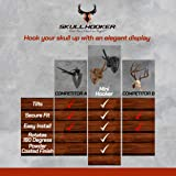 Skull Hooker Mini Hooker Skull Hanger - Perfect Kit for Hanging and Mounting Taxidermy Bear, Small Deer, Pronghorn, and Other Smaller Skulls for Display - Brown