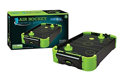Amazon Com 20 Tabletop Air Hockey Game Neon Color Toy For Kids 5