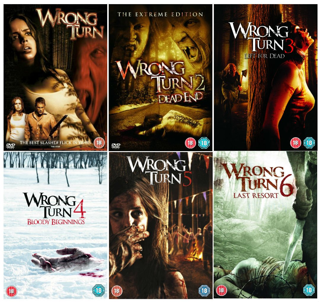 Wrong Turn 1 - 6 Complete DVD Collection : Wrong Turn