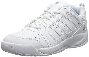 K-Swiss Women's Vendy Tennis Shoe, White/Silver, 6.5 M US
