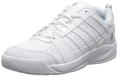 K-Swiss Women's Vendy Tennis Shoe, White/Silver, ...