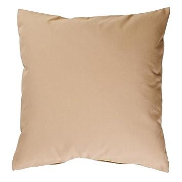 Hans Textil Shop Kissenbezug 30x30 Cm Uni Sand Baumwolle Canvas