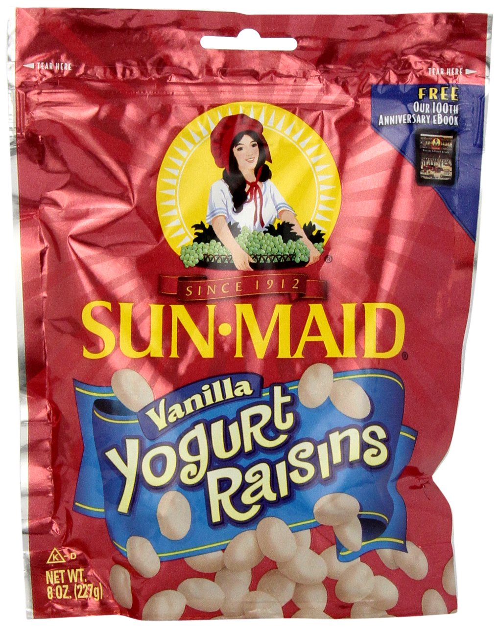 Sun Maid Vanilla Yogurt Raisins, 8-Ounce Bag (Pack of 6) by Sun Maid