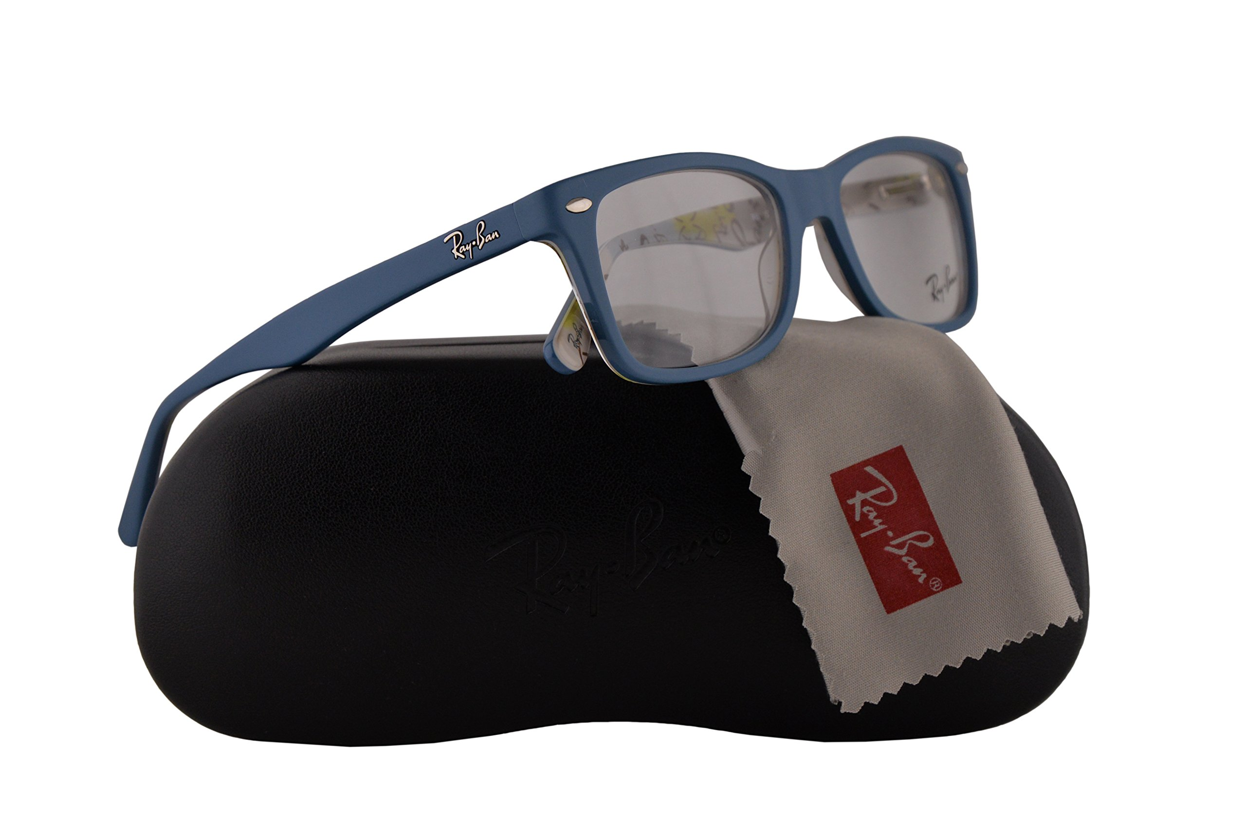Ray Ban RX5228 Eyeglasses 50-17-140 Top Blue On Texture Camouflage 5407 RX 5228