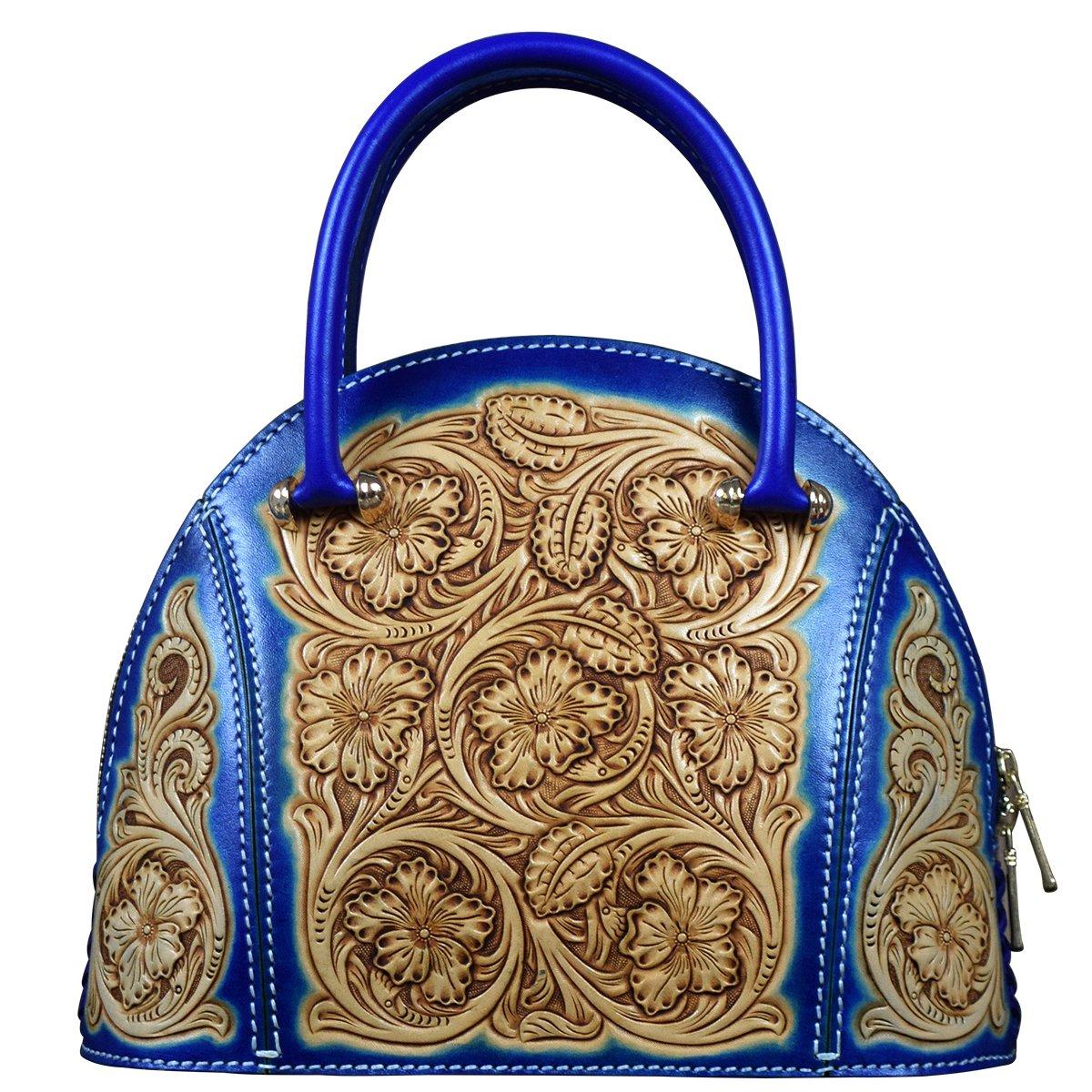 OLG.YAT Vegetable Tanned Leather Lady Handbags Retro Little Bow Leisure Purse HKBH-3