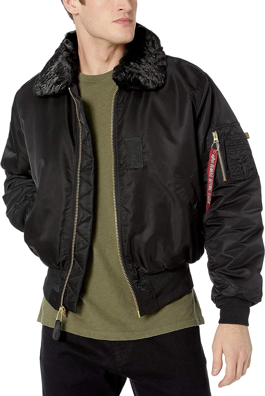 Black Small Alpha Industries Mens B-15 Nylon Flight Jacket