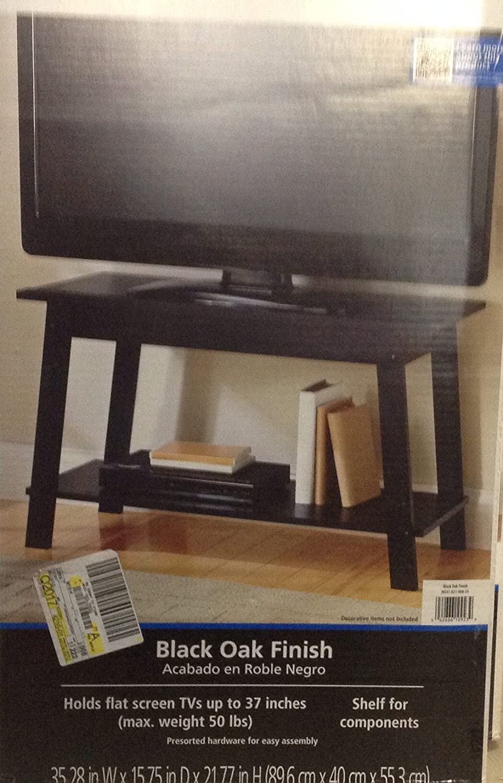 Mainstays Tv Stand Black Oak Finish Amazon Ca Electronics
