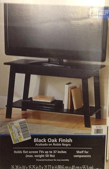 amazon com mainstays tv stand black oak finish home audio theater rh amazon com