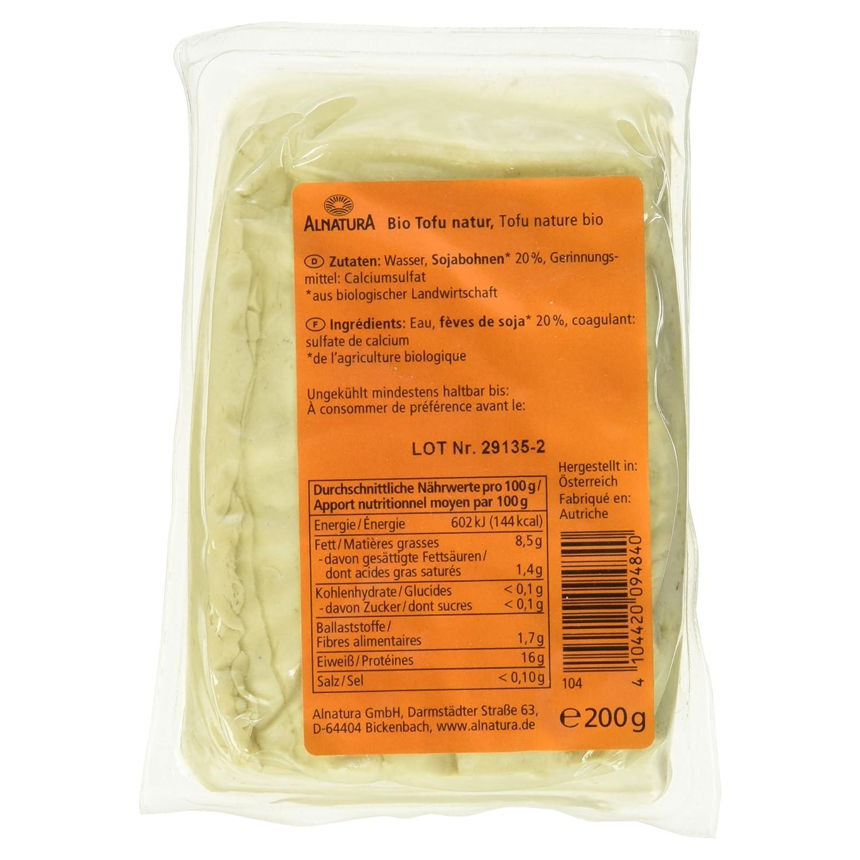 Verschiedene Tofu Nährwerte Galerie Von Alnatura Bio Natur, Vegan, 6er Pack (6