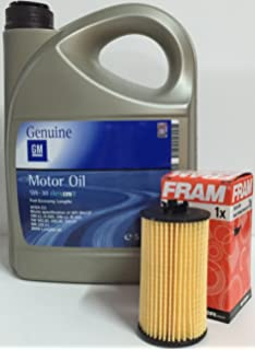 ACEITE MOTOR GM General Motor OPEL Oil 5w30 5 Litros + filtro aceite FRAM CH10246ECO para