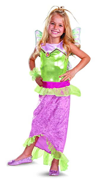 Disguise Girlu0027s Winx Club Flora Mermaid Classic Costume ...  sc 1 st  Amazon.com : toddler mermaid halloween costume  - Germanpascual.Com
