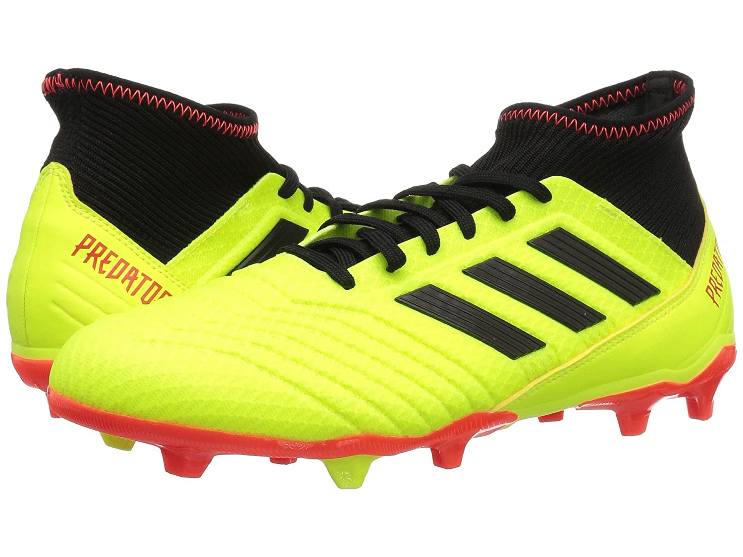 [adidas(アディダス)] メンズサッカーシューズ靴 Predator 18.3 FG Solar Yellow/Black/Solar Red 8 (26cm) D Medium B07DP5NF5M
