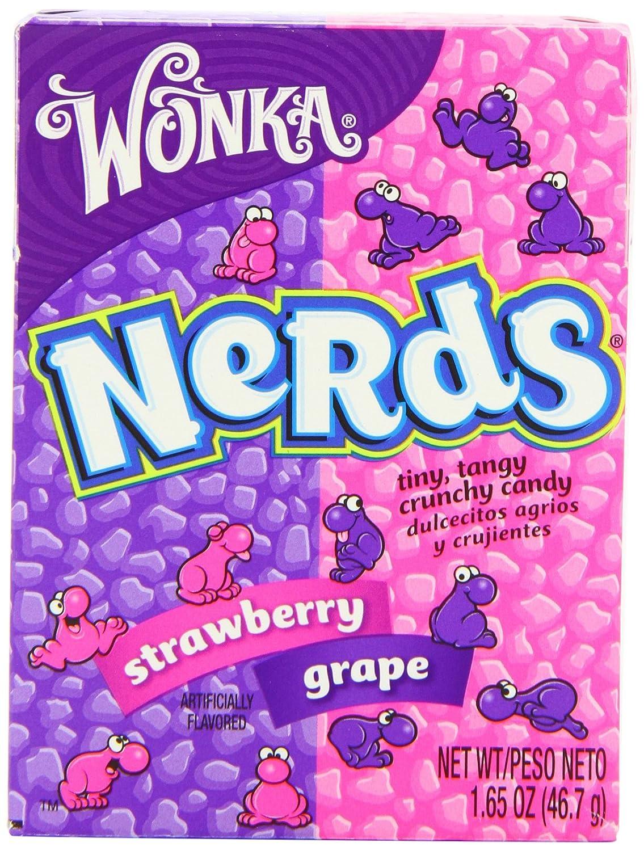 wonka nestle wonka nerds grape and strawberry 46 7 g pack of 9 rh amazon co uk Nerds Candy Box Nerds Candy Box