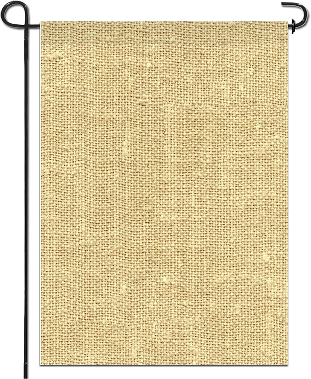 Anley Blank Burlap Garden Flag - DIY Personalized Craft Banner for Custom Outdoor Yard Decoration Sign Design - Crayon, Paint, Embroidery & Heat Press Transfer Vinly - 18 x 12.5 Inch