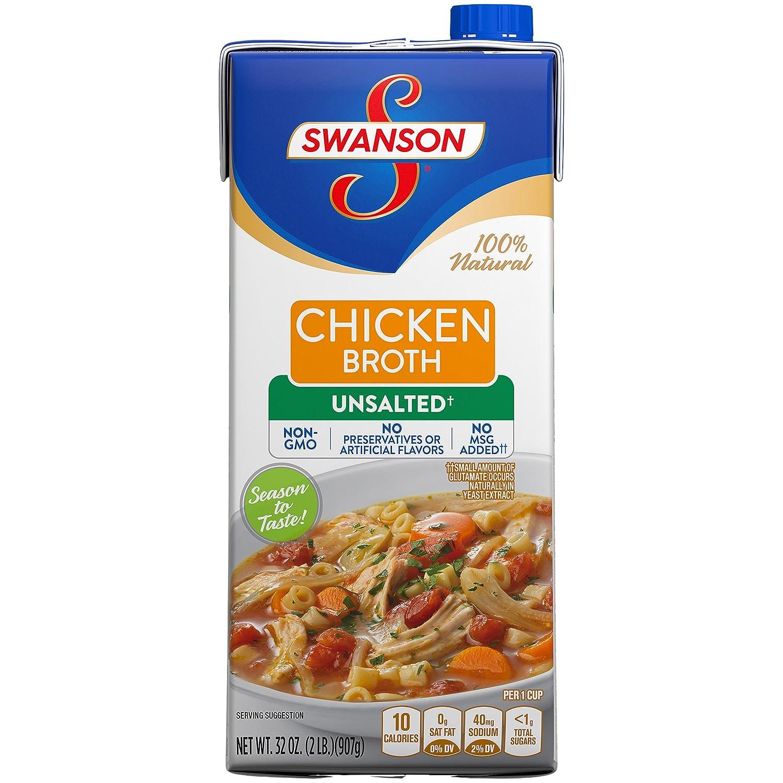 Swanson Unsalted Chicken Broth, 32 oz.