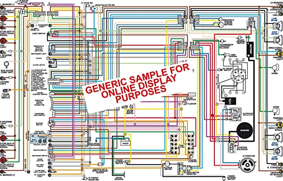 Amazon Com Full Color Laminated Wiring Diagram Fits 1968 Cadillac Color Wiring Diagram 18 X 24 Poster Size Automotive