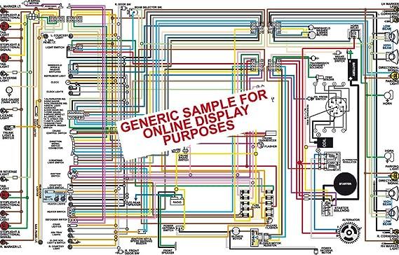 Amazon.com: Full Color Laminated Wiring Diagram FITS 1967 Chevy Chevelle  Malibu &; El Camino Color Wiring Diagram 18