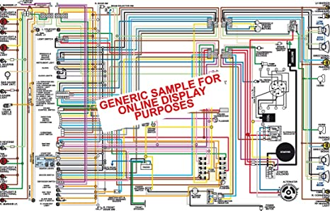 amazon com 1964 ford fairlane color wiring diagram 18 x 24 poster rh amazon com