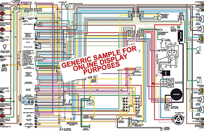 full color laminated wiring diagram fits 1968 pontiac lemans tempest \u0026 gto color wiring diagram 18\