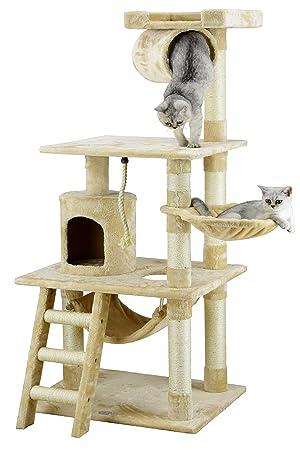 "GO Mascota Club 62 ""Gato árbol Condo Muebles Beige Color"
