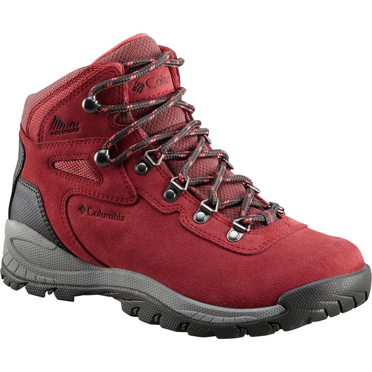 Columbia Women's Newton Ridge Plus Waterproof Amped Hiking Boot B0787KFYLF 6.5 B(M) US|Marsala Red, Sunset Red