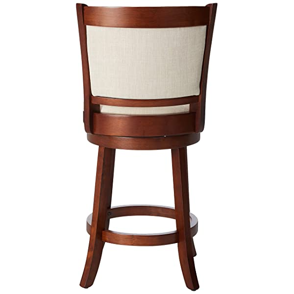 Great Deal Furniture Davis Fabric Swivel Backed Counter Stool