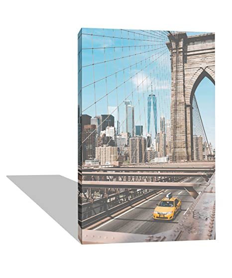 Quadro Moderno New York Ponte Brooklyn - Verticale - Decorazione ...