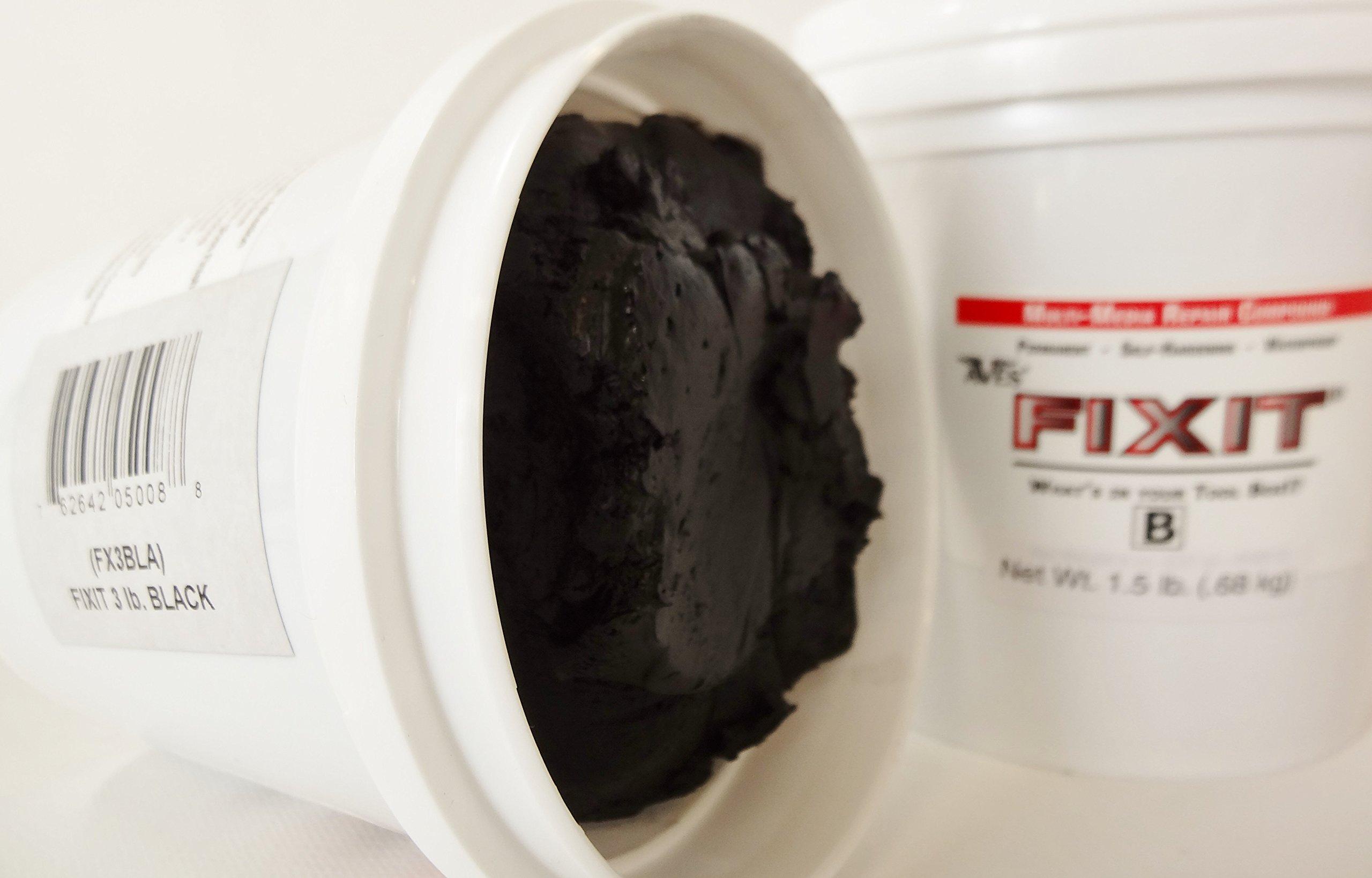 Fixit 3 Lb. Epoxy Clay BLack by Fix It