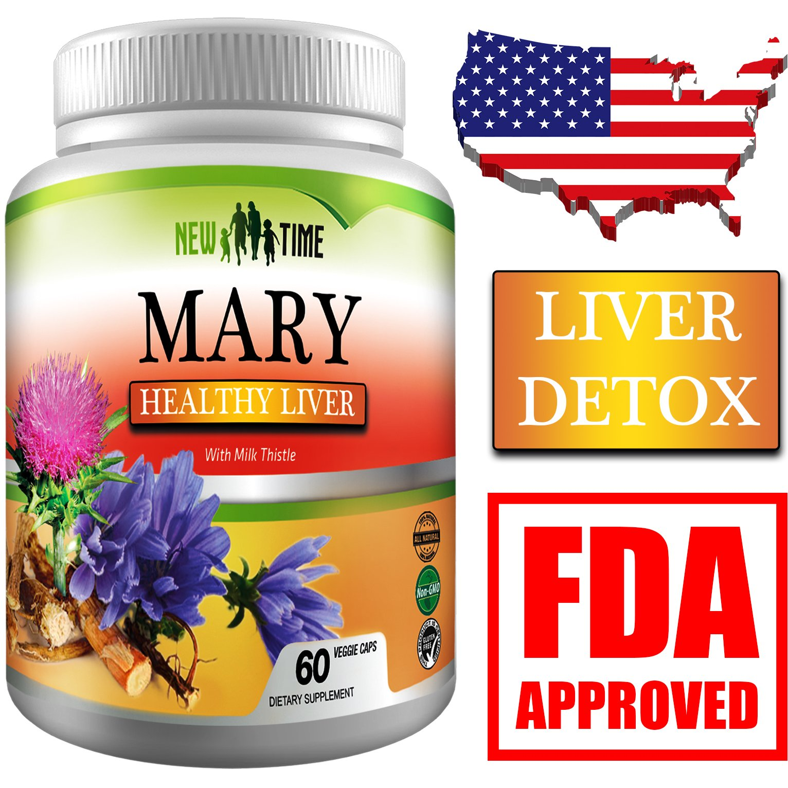 Amazon Liver Cleanse & Detox Support Supplement with Milk Thistle Herbal Pills for Liver Rescue Health & Personal Care
