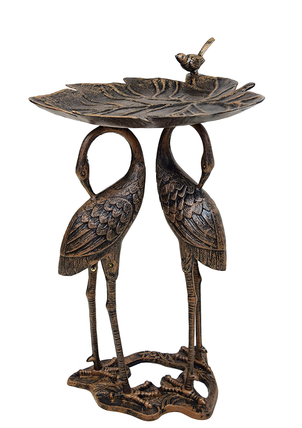 Oakland Living 2-Crane Lily Bird Bath Oakland Living Co. - DROPSHIP 5608-AB
