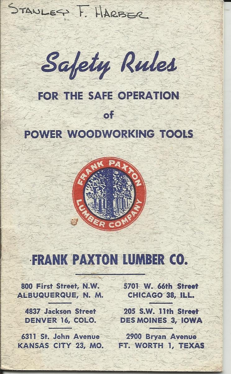 Safety Rules For The Safe Operation Of Power Woodworking