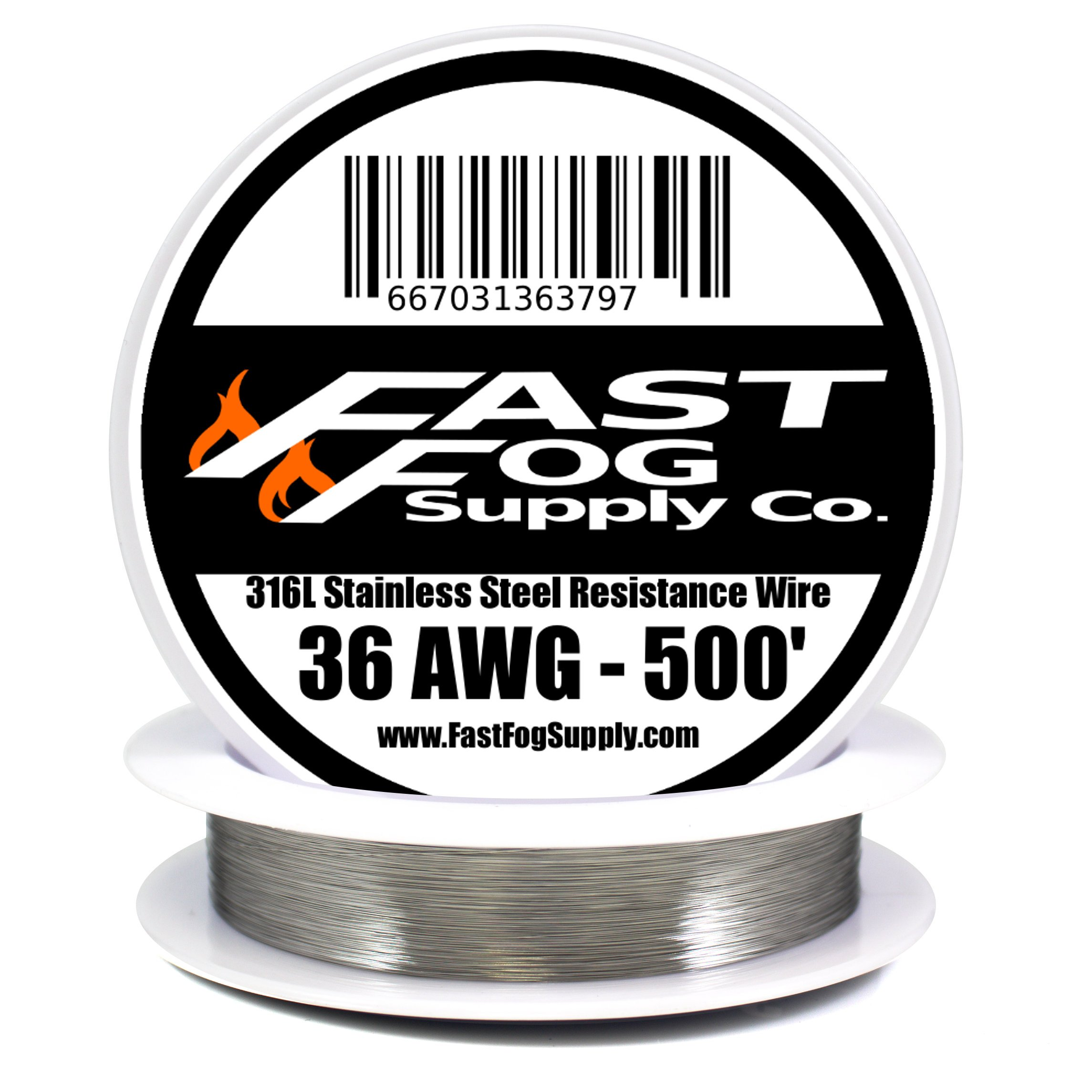 Fast Fog 500 ft - 36 Gauge AWG Stainless Steel 316L Wire 500' Length