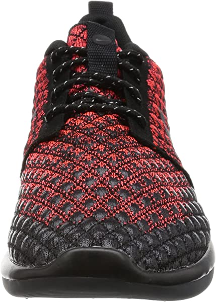 3295b4cd52bc Nike Mens Roshe Two Flyknit 365 Bright Crimson Dark Grey Black Running Shoe  8. Back. Double-tap to zoom