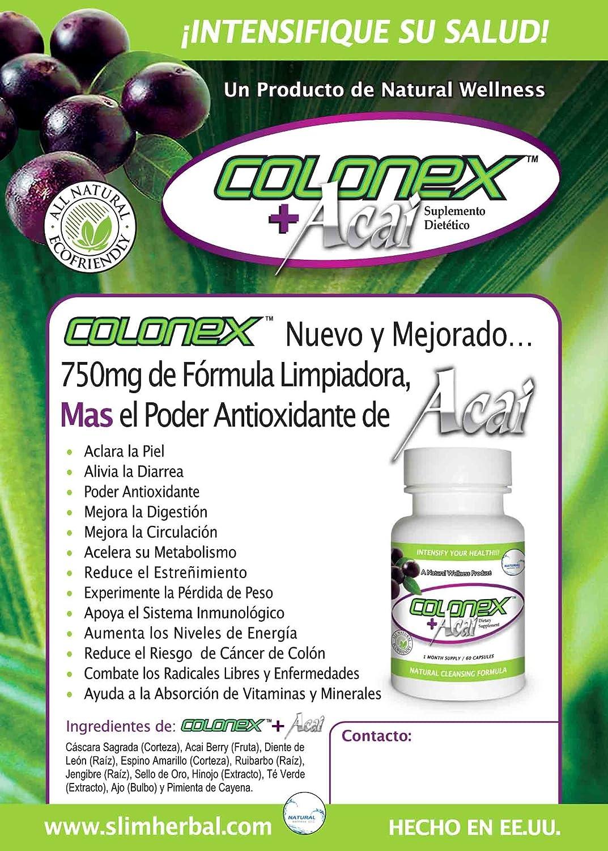 Amazon.com: Slimax Diet Pills Plus Free Colonex Colon Cleanser: Health & Personal Care