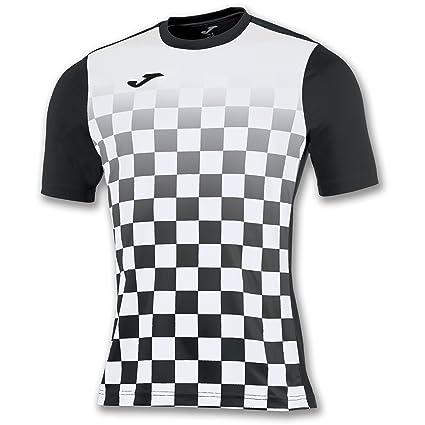 Joma Flag M/C Camiseta Equipamiento, Hombre, Negro/Blanco, 2XL-
