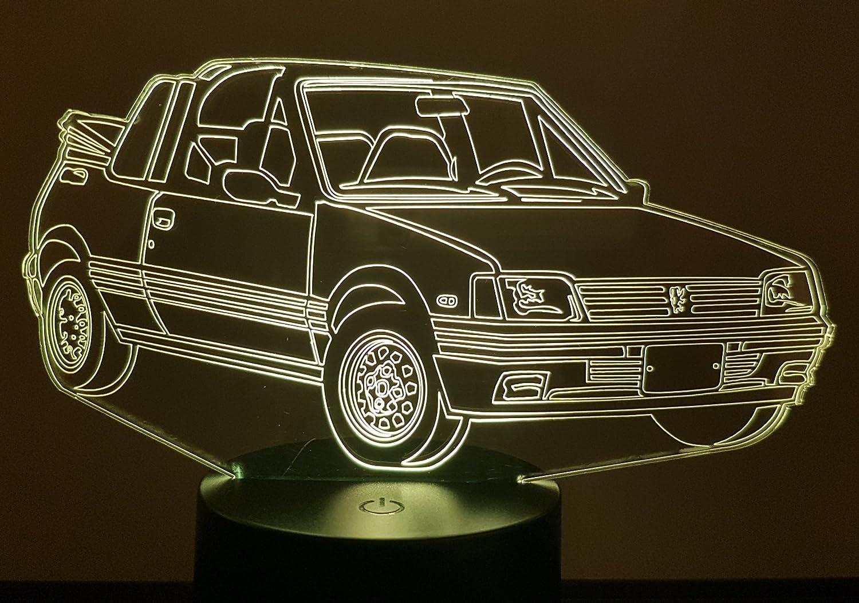 Lampe 3D Motif: Peugeot 205 CTI