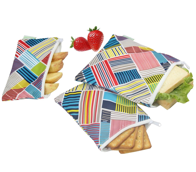 Wegreeco Reusable Snack Bags, (Set of 3) - Animal Alphabet WE-CSB1-6