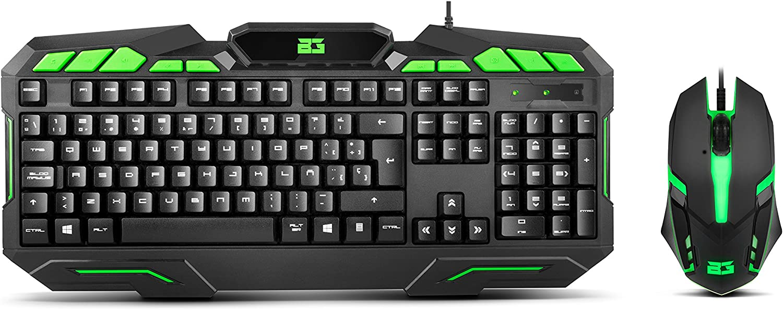 BG Ranger Force - BGRANGERFRC - Pack Teclado y Ratón Gaming, Color Negro/Verde: Amazon.es: Informática