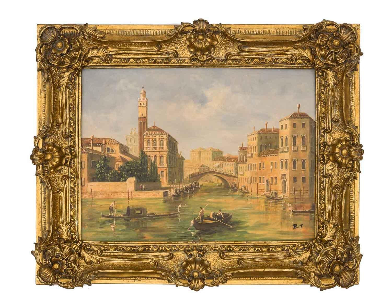 Ölgemälde Venedig San Geremia Ponte delle delle delle Guglie Stil Gemälde nach Cimaroli 04f086