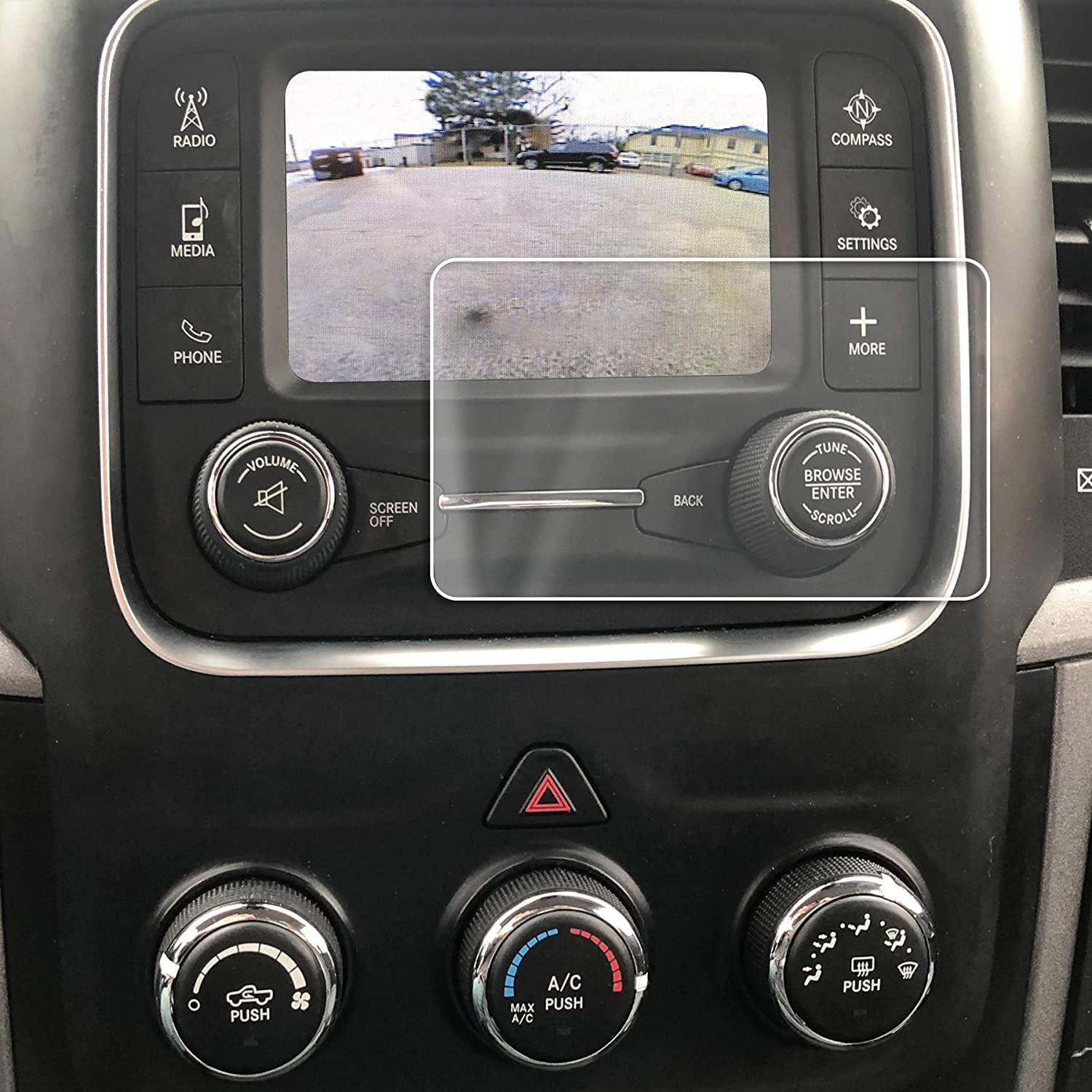 Red Hound Auto 2013-2018 Compatible with Dodge/Ram 1500 2500 3500 Uconnect Screen Saver 1pc Custom Fit Invisible High Clarity Touch Display Protector Minimizes Fingerprinting 8.4 Inch