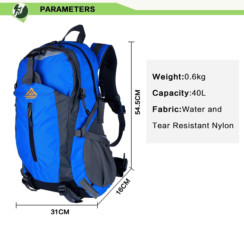 NATUREFUN 40L Mochila Ligera Daypack Resistente al Agua Bolsa ...