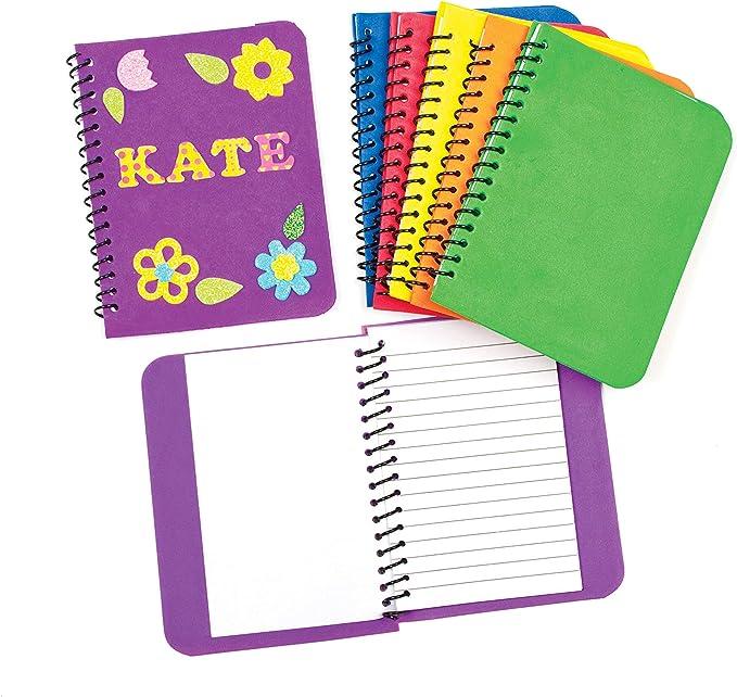 Baker Ross- Cuadernos de Notas de Espuma (Pack de 6) -ideales para Manualidades Infantiles: Amazon.es: Juguetes y juegos